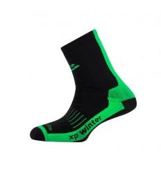 Calcetínes Spiuk XP Winter Largo Unisex Negro Verde