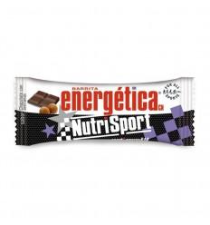 Caja de Barritas energética Nutrisport sabor chocolate con avellanas 24 Unidades