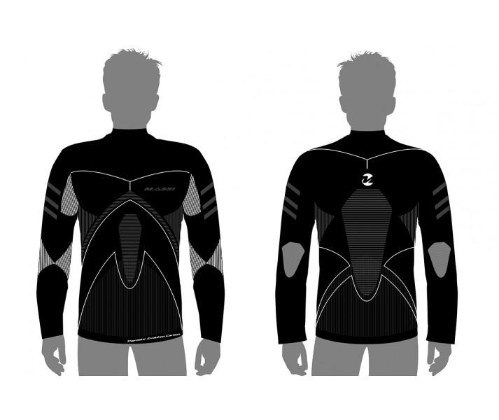 Camiseta M/L Massi Thermetic Evolut. Carbon