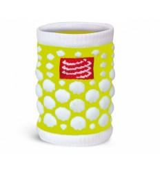 Muñequera Compressport 3D.Dots Amarillo Fluor