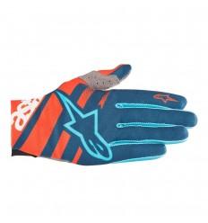 Guantes Alpinestars Racer Naranja/Azul Marino