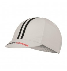 Gorra Castelli Rosso Corsa Cycling Cap Blanco / Negro