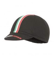 Gorra Castelli Rosso Corsa Cycling Cap Negro