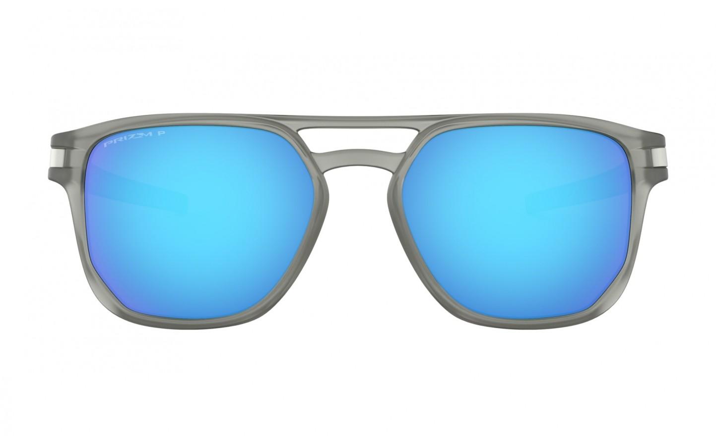 cb5f9077c6 Gafas Sol Oakley Latch Beta Matte Grey Ink lente Prizm Sapphire Polarized  ...