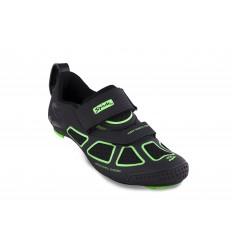 Zapatillas Spiuk Trivium Triathlon Unisex Negro/Verde/Negro