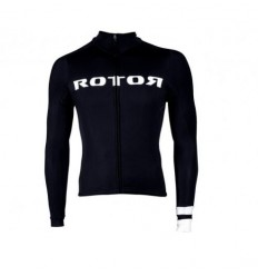 Maillot Rotor Corporate Manga Larga Negro-Blanco