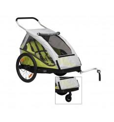Remolque para niños XLC modelo 201 20 Duo limon 2 asientos incl. rueda Buggy