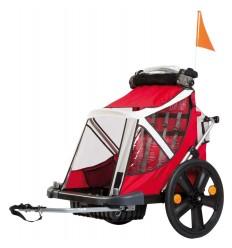 Remolque Bellelli Bici 2 Niños Con Freno B-Travel Rojo