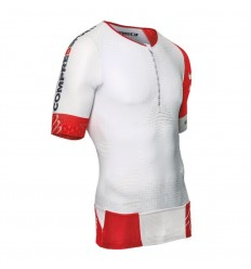 Camiseta Compressport TR3 Blanco