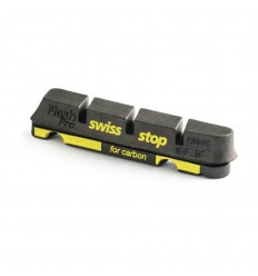 Kit 4 Zapatas Swissstop Flash Negro Carbono