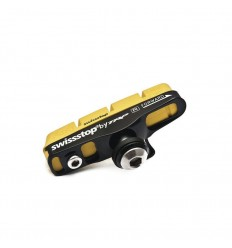 Kit 2 Portazapatas Swissstop Flash Pro Amarillo Carbono