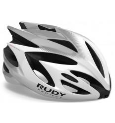 Casco Rudy Project Rush Blanco / Plata (Brillo) Visor Incluido