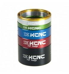 Espaciadores KCNC Hollow 5 anillos plata |KCESP5PLUN|