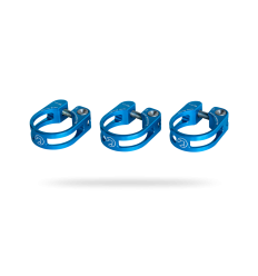 Abrazadera Pro Cierre tija Sillín preforada 34,9mm Azul