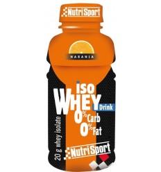 Bebida Proteica Nutrisport Iso whey zero zero drink naranja 12 u.
