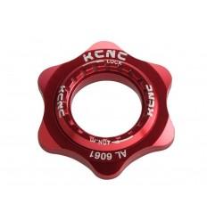 Adaptador Center Lock KCNC AL6061 rojo |KCCLADTRJUN|