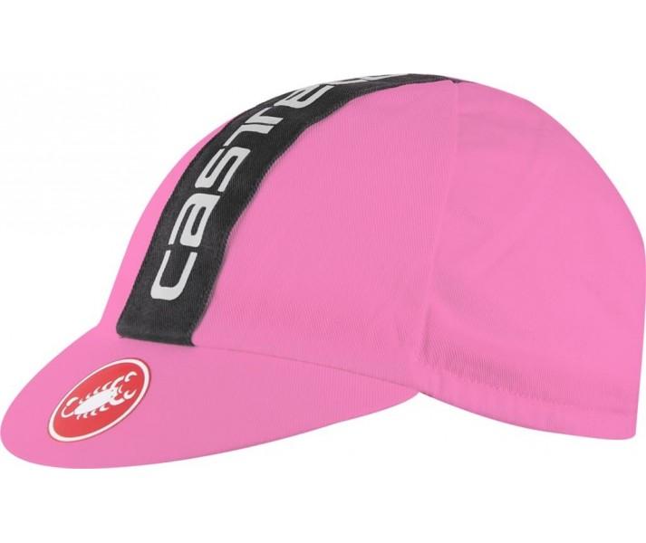 Gorra Castelli Retro 3 Cap Giro Rosa/Negro