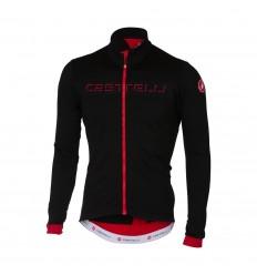 Maillot Castelli Fondo Jersey Fz Negro/Rojo