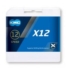 Cadena KMC X12 Oro 126 eslabones 12 Velocidades