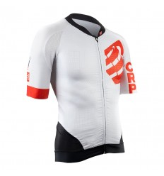 Maillot Compressport Cycling ON/OFF blanco T: XL