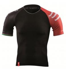 Camiseta Compressport Triathlon Negra