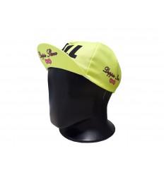 Gorra ciclismo Doppio Slavo Full Gas amarillo fluor