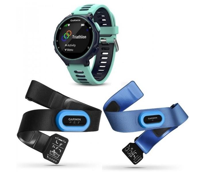 Reloj Garmin Forerunner 735 XT Midnight Azul/Frost Tri-Bundle GPS