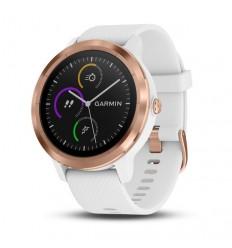 Reloj Garmin vívoactive 3, blanco/oro rosa