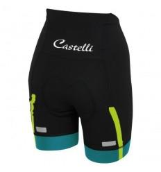 Culote Castelli Velocissima Corto Negro/Caribe