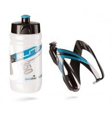 Kit Elite Portabidón + Bidón Ceo 350 ml Calro/Azul-Negro/Azul