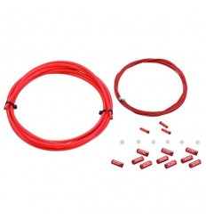 Kit Cable Cambio KCNC incl Fund-Top. 4mm 2UNI rojo |KCCABCMKRJUN|