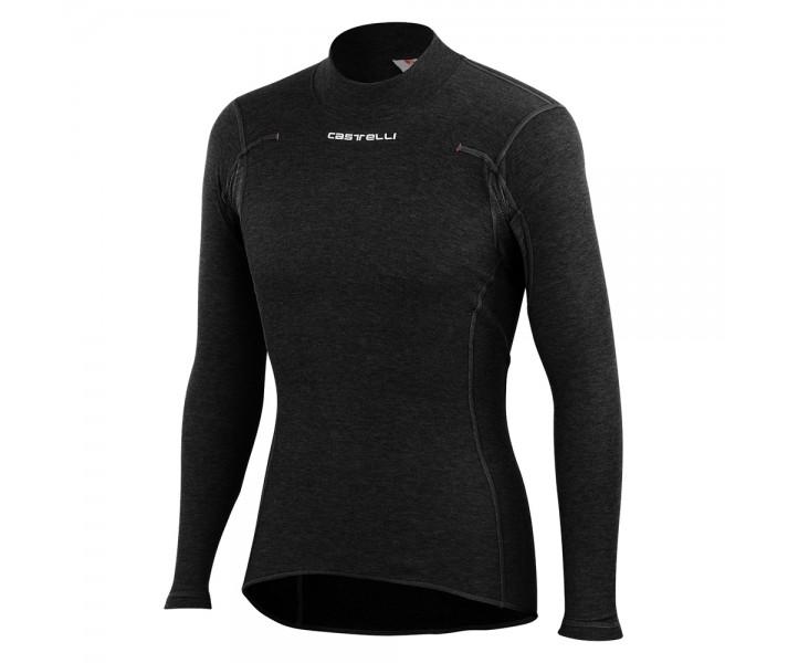 Camiseta Interior Castelli Flanders Warm Long Sleeve Negro