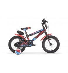 Bicicleta Infantil MBM Rockstar 12' Negro-Rojo