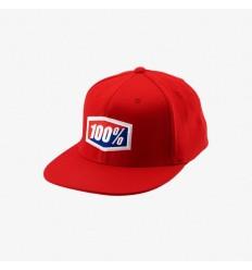 Gorra 100% Official J-Fit Flexfit Rojo
