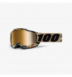 Máscara 100% Accuri 2 Tarmac Lentes True Gold