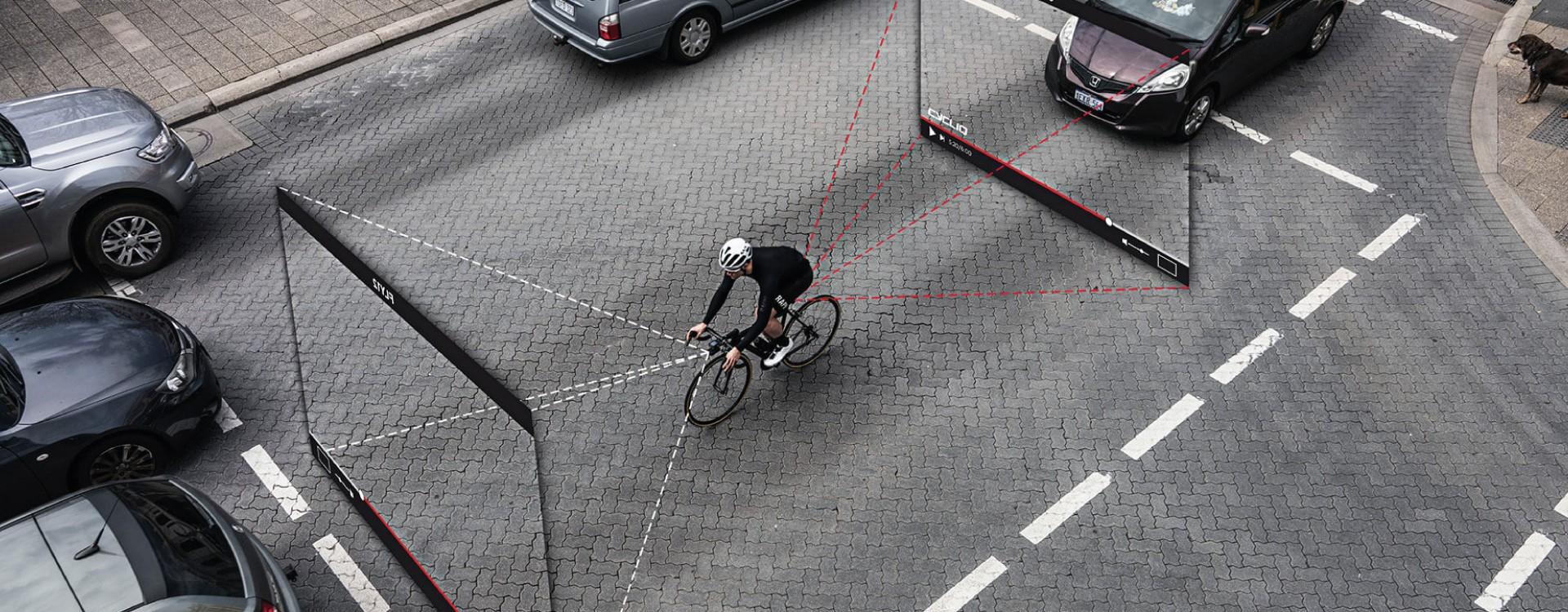 Graba todo lo que pasa a tu alrededor mientras montas en bicicleta